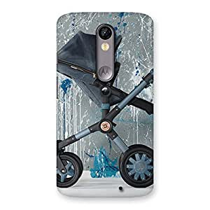 Stylish Denim Baby Print Back Case Cover for Moto X Force