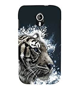 printtech White Tiger Face Back Case Cover for Micromax Canvas HD A116::Micromax Canvas HD Plus A116Q