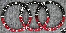 12 Pcs Bezel Insert for Rolex GMT 1675, 16750 Red/Black