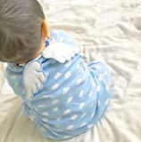 (オルル)OLULU ベビー 天使の羽 汗取り パッド 背中 夏 涼しい 新生児 男児 男の子 ボーイズ 女児 女の子 ガールズ 606g139(ブルー)