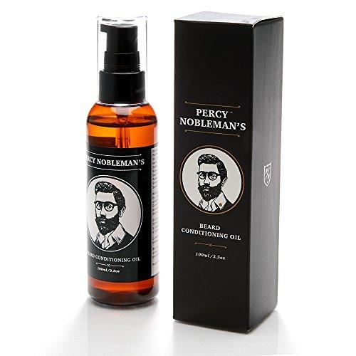 BartÖl - Beard Oil - Bart Conditioner Öl von Percy Nobleman (100 ml) - Ein Bart Weichspüler und Tiefen-Conditioner für Männer