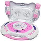 Hello Kitty KT2003B CD Karaoke System and CD Player, Random Play Button, LCD Display