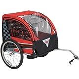 Red/Black Disney Cars Boys' Bike Trailer, 30L x 24W x 23H, easy to assemble