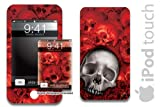 New Apple iPod Touch Protective Skin, fits 1st Generation 8,16,32gb models - BoneCollector - Red
