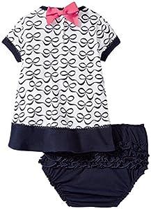 kate spade york Bow Dress and Bloomer Set, Elegant Print