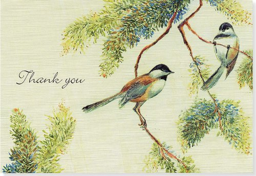 Chickadees Thank You Notes (14 Cards/15 Envelopes)
