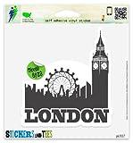"London Skyline England Travel Car Sticker Indoor Outdoor 5"" x 4"""