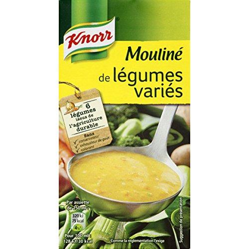 Knorr - Moulinée de légumes variés, potage liquide - La brique de 0.5L - (pour la quantité plus que 1 nous vous remboursons le port supplémentaire)