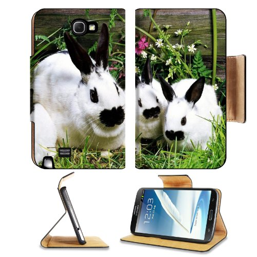 Rabbit Baby Cotton Tail Garden Pets Samsung Galaxy Note 2 N7100 Flip Case Stand Magnetic Cover Open Ports Customized Made To Order Support Ready Premium Deluxe Pu Leather 6 1/16 Inch (154Mm) X 3 5/16 Inch (84Mm) X 9/16 Inch (14Mm) Liil Note 2 Cover Profes front-630951