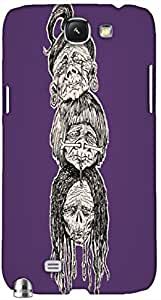 Timpax protective Armor Hard Bumper Back Case Cover. Multicolor printed on 3 Dimensional case with latest & finest graphic design art. Compatible with Samsung Galaxy Note II N7100 Design No : TDZ-27486