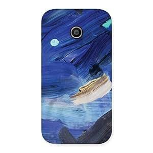 Premium Blue Paint Work Print Back Case Cover for Moto E