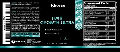 Hair Growth Ultra - Stimulate Healthy Growth & Shine for Women & Men - Natural Biotin & DHT Blockers Help Hair Loss and Baldness - Pills Packed with Vitamins - Better than Oil , Serum & Shampoo for Strong & Lush Hair