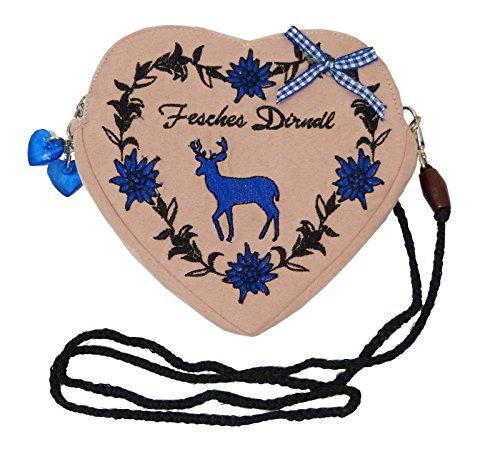 Damen-Dirndltasche-Trachtentasche-Herz-Umhngetasche-Herztasche-zum-Dirndl-Fesches-Dirndl-Hirsch-blau-altrosa