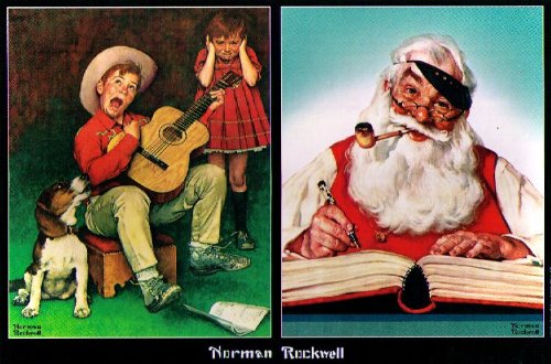 NORMAN ROCKWELL JIGSAW PUZZLE - THE MUSIC MAN/NO CHRISTMAS PROBLEM NOW - 1