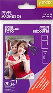 Snap Cutable 3-Pack Photo Pocket Magnets, 3-1/2-Inch by 5-Inch