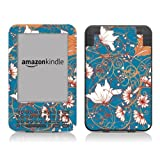 Diabloskinz Vinyl Adhesive Skin,Decal,Sticker for the Kindle Keyboard - Blue Flower