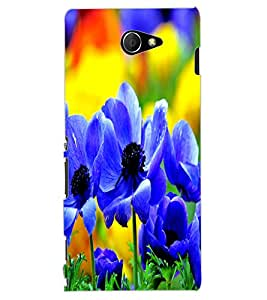 ColourCraft Beautiful Flowers Design Back Case Cover for SONY XPERIA M2