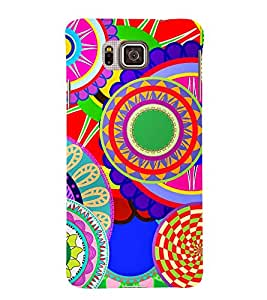 Circular Pattern 3D Hard Polycarbonate Designer Back Case Cover for Samsung Galaxy Alpha G850