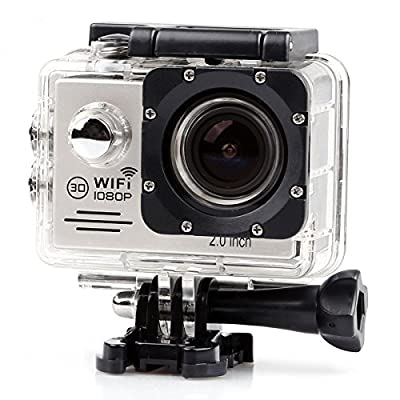 YOCI 1080P FHD 12M Wifi Waterproof 30m Ourdoor Sports Action Video Camera DV Body Mounted Camcorder with NT96655 DSP 2.0 inch LCD 170 Degree Wide Angle Lens 16 Sports Accessories Included (Black)