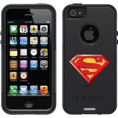 Best Price Superman - Emblem Beveled design on a Black OtterBox® Commuter Series® Case for iPhone 5s / 5