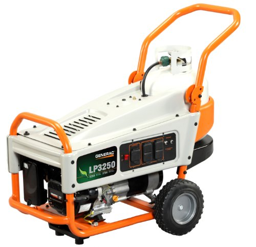 514QRvmcSPL. SL500  Generac 6000 LP3250 3,250 Watt 212cc OHV Portable Liquid Propane Powered Generator with Tank Holder
