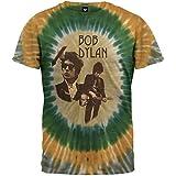 Bob Dylan - Mens Cameo Tie Dye T-Shirt - Medium Tan
