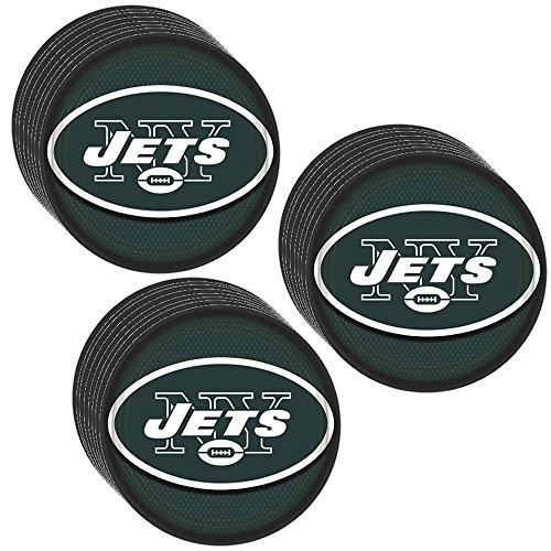 New York Jets Party Dinner Plates - 24 Pieces