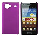 Kit Me Out UK Hard Clip-on Case for Samsung Galaxy S Advance i9070 - Metallic Purple Smooth Touch Textured