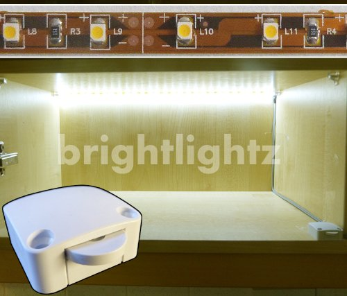 12v LED STRIP LIGHT SET IN WARM WHITE WITH SWITCH AND 12V SUPPLY / TRANSFORMER ** EXCELLENT PACKAGE FOR LIGHTING UP WARDROBES, CUPBOARDS, KITCHENS, DRAWERS, AWKWARD AREAS, ETC **
