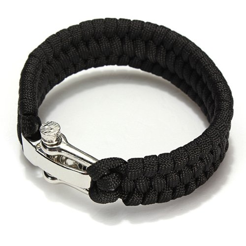 7 Stand Paracord Survival Bracelet Weave Handmade Stainless Steel Buckle