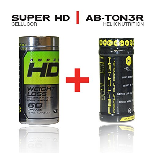 Cellucor Super Hd 60 Capsules + Ab-ton3r - Stimulant-free Formula Designed to Help Target Abdominal Fat, Tighten Mid-section, and Lower Cholesterol. (Super Hd 60 compare prices)