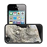 MSD Premium Apple iPhone 4 iPhone 4S Aluminum Backplate Bumper Snap Case IMAGE ID: 475386 Closeup of a rhinoceros covered in mud