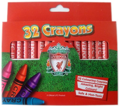 OFFICIAL LIVERPOOL FC 32 COLOUR CRAYON SET