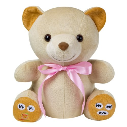 MP3 Player Teddy bear with Pink Ribbon
