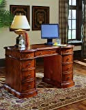 Knee-Hole Desk-Bow Front by Hooker Furniture - Natural Wood (299-10-301)
