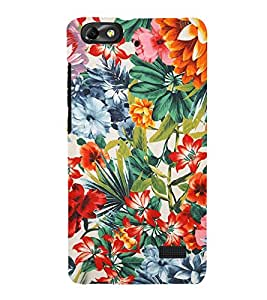 Floral Painting 3D Hard Polycarbonate Designer Back Case Cover for Huawei Honor 4C :: Huawei G Play Mini