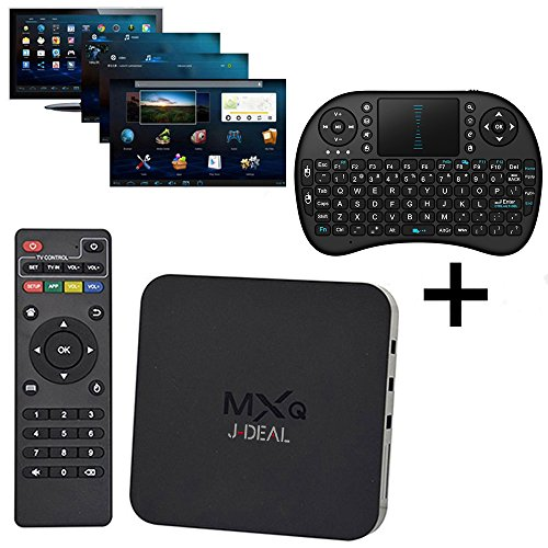 [Con Mini tastiera senza fili] SEGURO® MXQ Amlogic S805 Quad Core Xbmc Tv Box Android 4.4 Kitkat H.265 Wifi LAN Miracast Airplay Hdmi 1g RAM 8g ROM