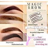 Eyebrow stencil and aligner Eyebrow Stencils Eyebrows Grooming Stencil Kit Shaping Templates DIY Tools-24 + 50 Disposable Eyebrow Rulers