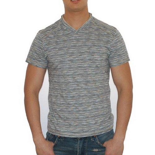 Mens+Kenneth+Cole+Designer+V-neck+T-Shirt+Top+%28Size%3A+L%29