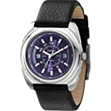 Diesel Leather Collection Black Strap Purple Dial Women's watch #DZ5199