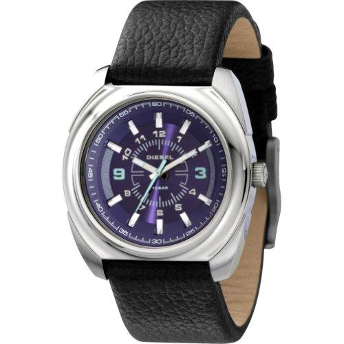 Diesel Leather Collection Black Strap Purple Dial Women's watch #DZ5199