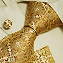 Gold pattern men with ties yellow christmas gift Italian style necktie cufflinks set H5108 From Y&G List Price:	$79.99 Price:	$29.99 & eligible for FREE Super Saver Shipping on orders over $25.