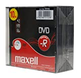 Maxell DVD-R 4.7GB White 16X Jewel Case Pack of 10 275742.40.TW