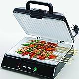 Syntrox Germany XXL Kontaktgrill mit Keramikbeschichtung elektrischer Tischgrill Grillplatte Grill
