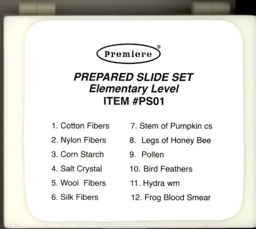 Microscope Prepared Slide Set - 12 Slides - Elementary Level