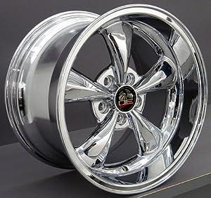 17″ Fits Mustang (R) Bullitt – Bullet Style Replica Wheel – Chrome 17×10.5