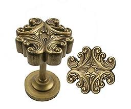 Urbanest Acanthus Medallion Drapery Holdback, Renaissance Gold, Set of 2