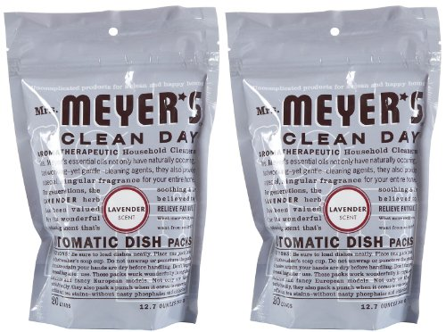 Mrs. Meyer's Clean Day Automatic Dishwashing Packs - 12.7 oz - Lavender - 2 pk (Meyers Dishwasher Packs compare prices)