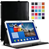 MoKo Genuine Leather Slim-Fit Multi-angle Folio Cover Case For Samsung Galaxy Tab 3 10.1 Inch GT-P5200 / GT-P5210...