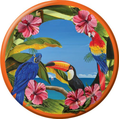 Polynesian Party Dinner Plates (8 per package)